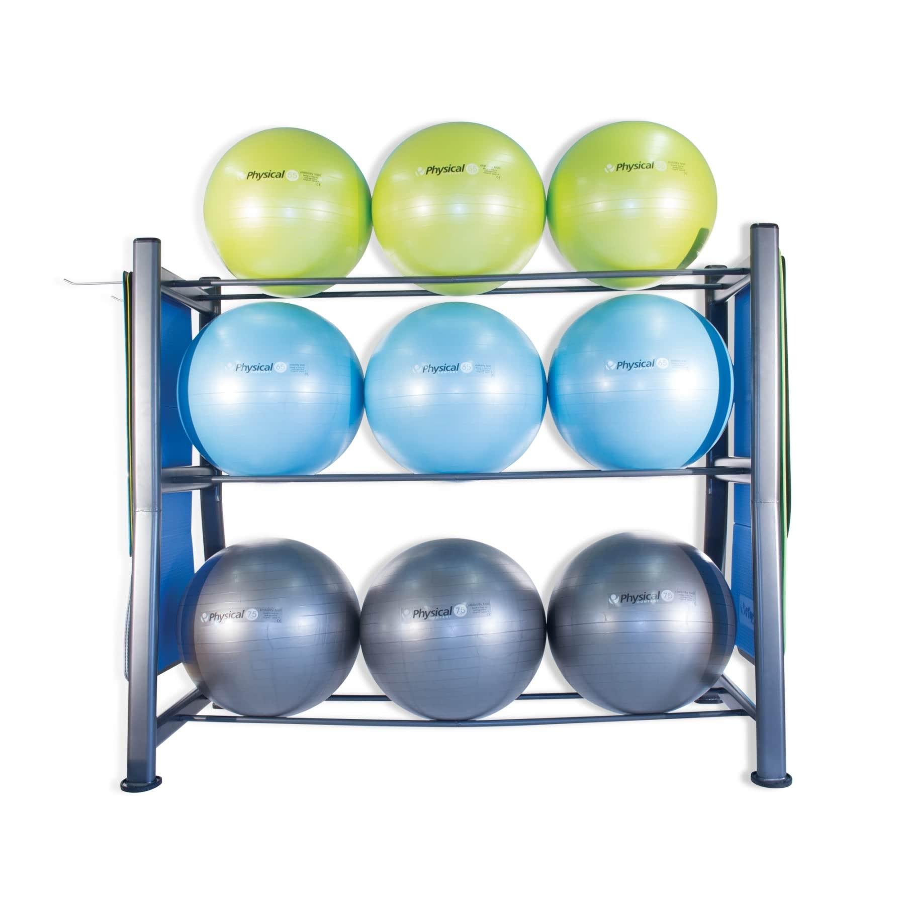 Buy 9 Stability Ball Bosu Gym Mat Storage Rack At Nomeq Mats